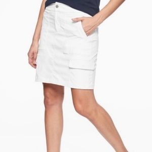 Athleta White Trekkie Cargo Hiking Tennis Skirt